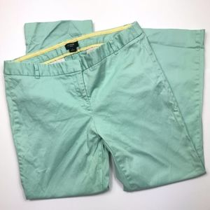 J. Crew Mint Green City Fit Cropped Pants 4